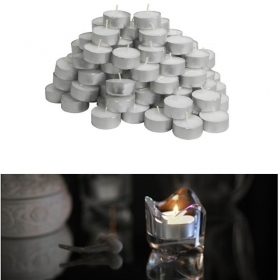 SET 100 CANDELE CERA TEA LIGHTS LUM